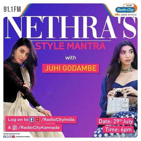 Fashion Blogger Juhi Godambe Amping Up The Style Quotient With Four Time National Award-Winning RJ Nethra On Radio City's Show  Nethra's Style Mantra